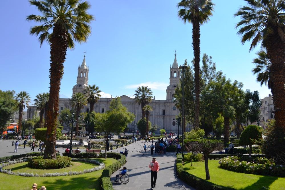 La Plaza de Armas de Areqipa