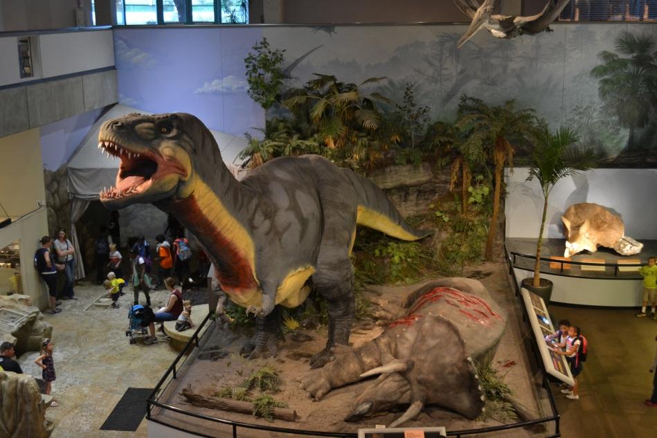 Los dinosaurios en el primer piso del Museo de Ciencias