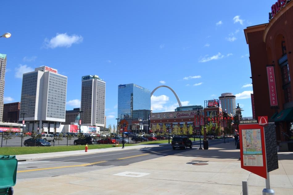 Así se ve la ciudad desde la una de las esquinas del Estadio Busch