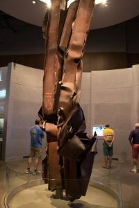 Un pedazo de una columna de las Torres Gemelas