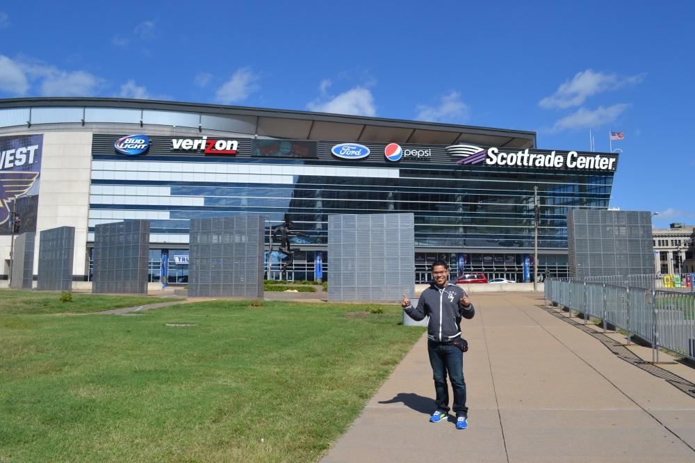 El Scottrade Center, la casa del equipo de hockey sobre hielo St Louis Blues