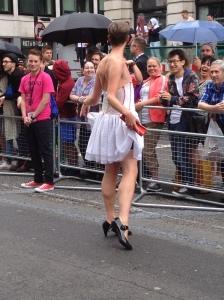 Personaje en la Parada de Orgullo Gay en Londres