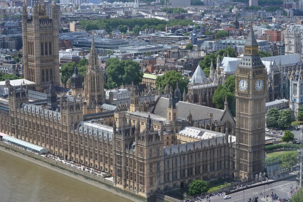 El Parlamento y Big Ben desde la cima del London Eye