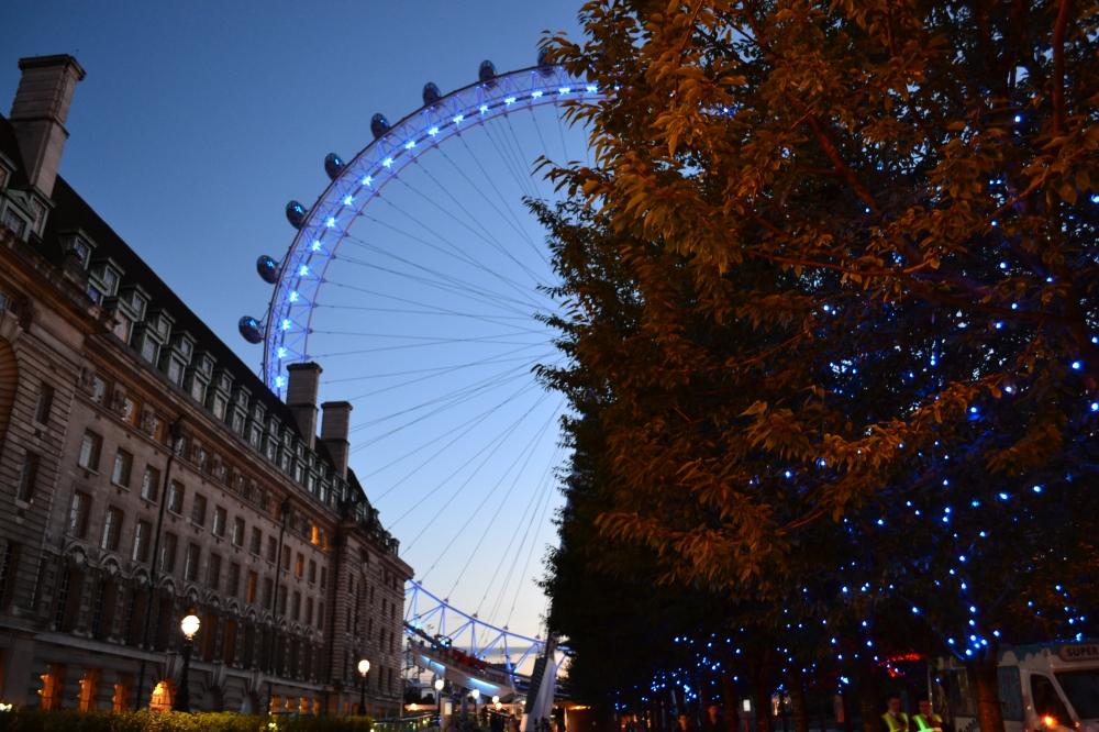 London Eye al atardecer