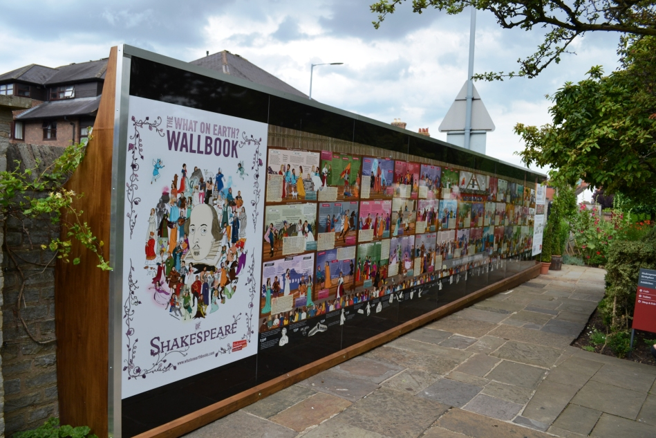 Wallbook de Shakespeare en su casa