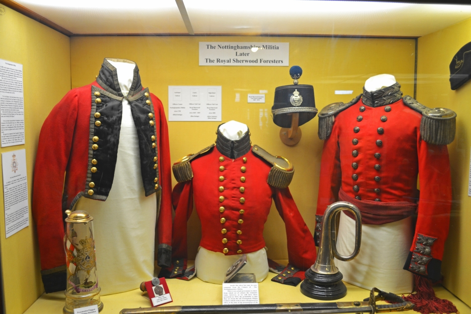 Uniforme militar de The Sherwood Foresters de la milicia de Nottinghamshire