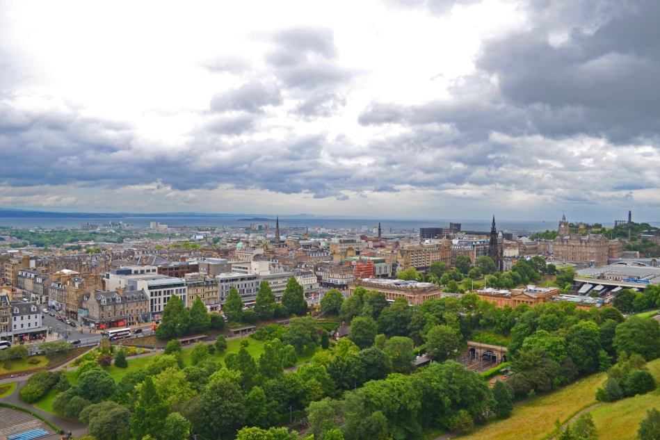 Vista desde el Castillo Edimburgo